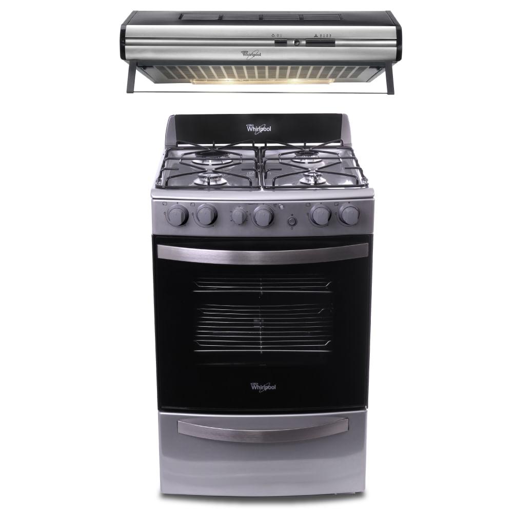 Combo whirlpool cocina 55 cm purificador 60 cm compra for Cocina whirlpool wfx56dg